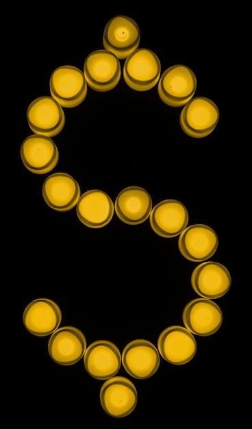 Troca de moeda amarela cifrão Foto gratuita
