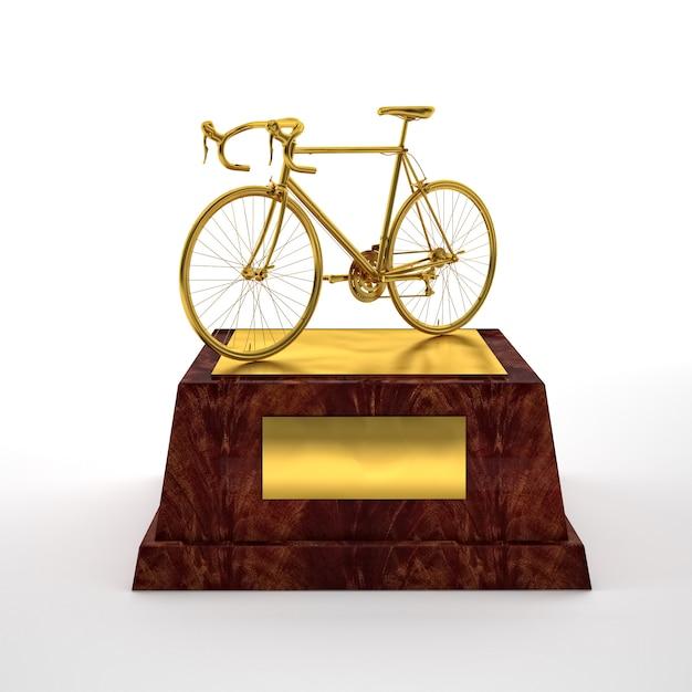 Troféu de bicicleta Foto Premium