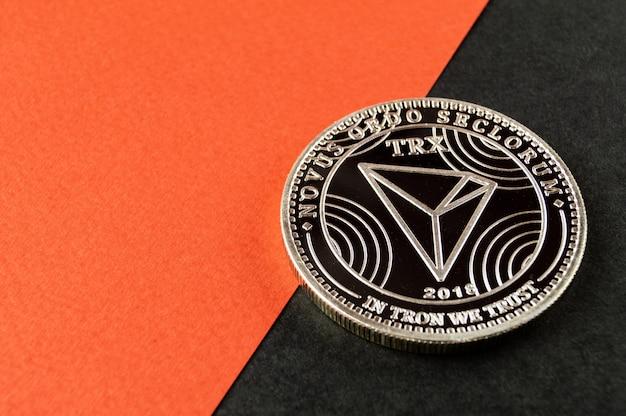 Tron trx é uma forma moderna de troca e mercado web Foto Premium