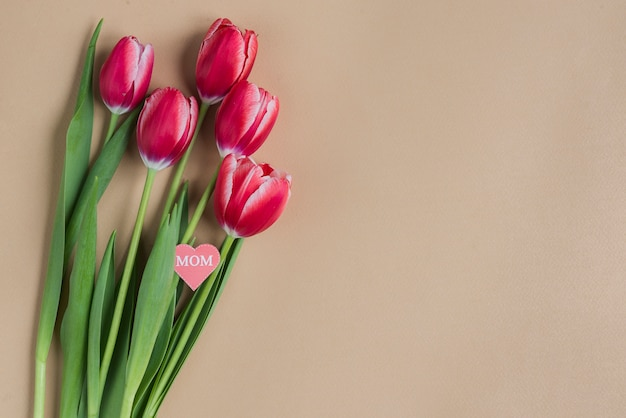 Tulipas bonitas para o dia da mãe Foto gratuita