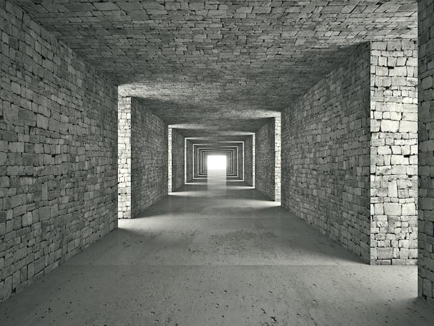 Túnel abstrato Foto Premium
