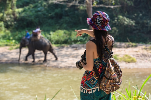 Turistas femininos Foto gratuita