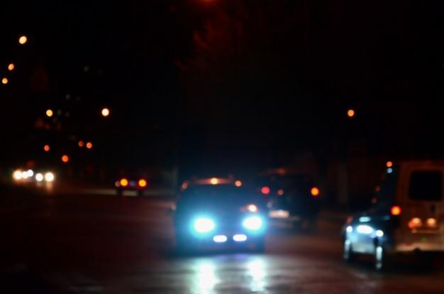 Turva paisagem da cidade à noite Foto Premium