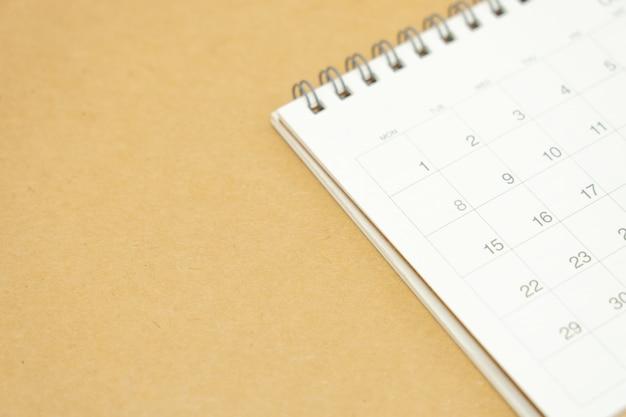 Um calendário do mês. conceito de planejamento Foto Premium