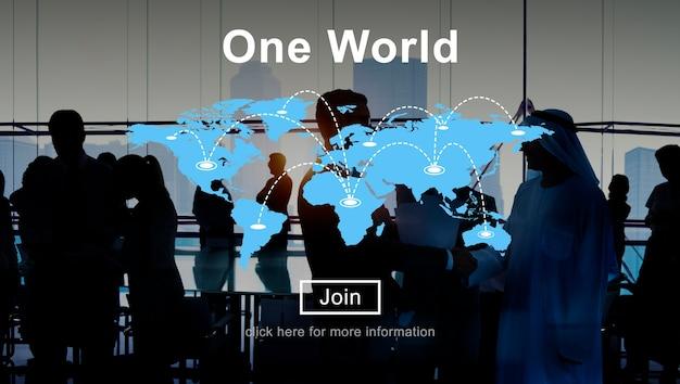 Um conceito de interconexão de relacionamento de conexão de paz mundial Foto gratuita