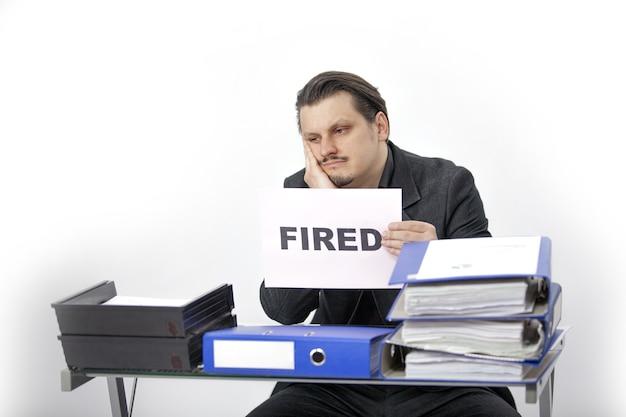 Um contador demitido Foto gratuita
