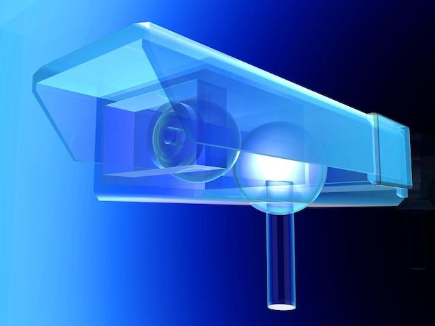 Um desenho técnico da câmera de vigilância de cftv. Foto Premium
