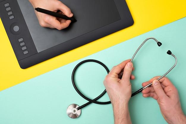 Um designer ou um médico de instrumentos Foto Premium