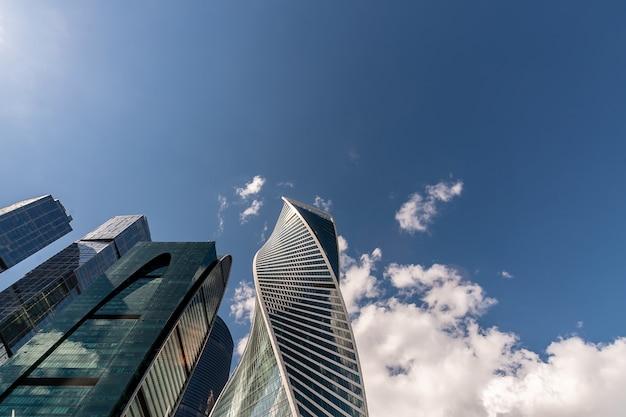 Uma ideia do centro de negócios internacional de moscovo em moscovo, rússia. Foto Premium