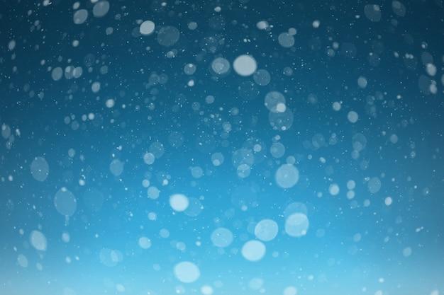 Uma neve no fundo preto Foto Premium