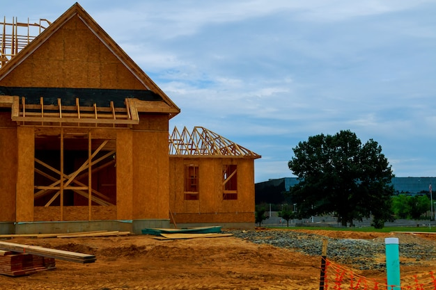 Uma nova casa em construção em nova jersey, eua Foto Premium