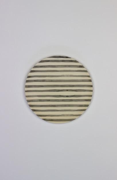 Uma placa em um fundo branco. minimalismo. Foto Premium
