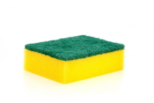 Uma seleção de esponja de lavar louça Foto Premium