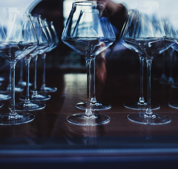 Uma taça de vinho Foto Premium