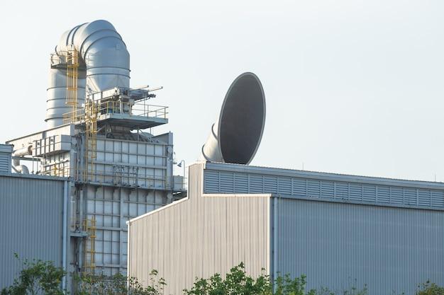 Unidade de recuperação de calor residual whru, unidade de recuperação de calor residual whru em central elétrica. Foto Premium