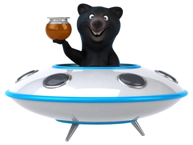 Urso divertido Foto Premium