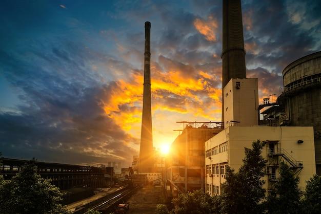 Usinas de energia a carvão na china Foto Premium