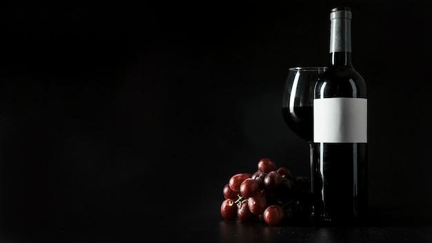 Uva perto do vinho Foto Premium