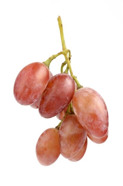 Uvas suculentas em fundo branco Foto Premium