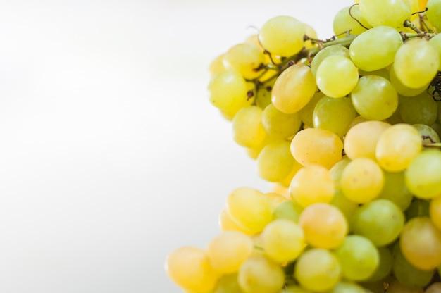 Uvas verdes em fundo branco Foto gratuita