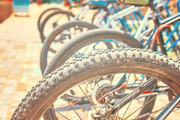 Vagas de estacionamento para bicicletas Foto Premium
