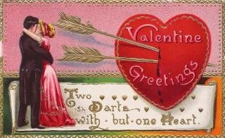 Valentine cartão de cumprimentos por volta de s Foto gratuita