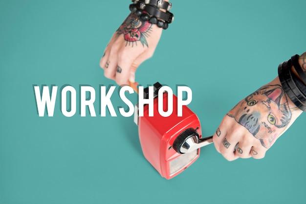 Valores potenciais de desempenho de motivação em workshops Foto gratuita