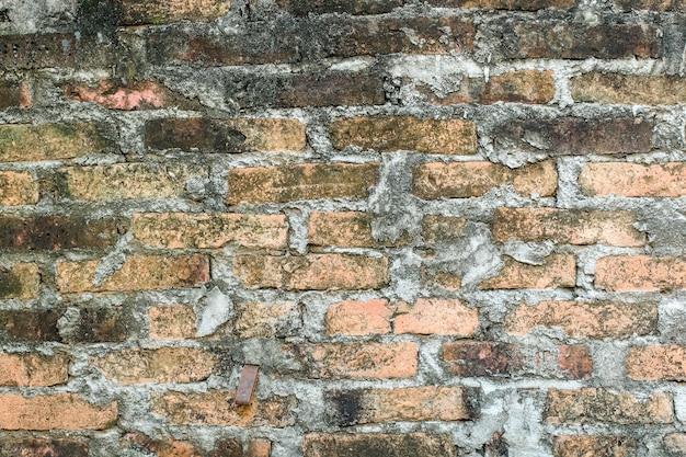 Vara de tijolo pedra suja na parede Foto Premium