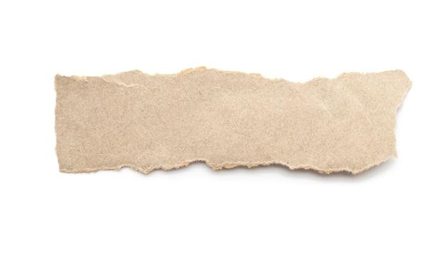 Vara reciclada do ofício de papel em um fundo branco. Foto Premium
