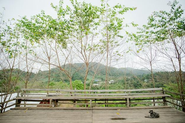 Varanda com natureza Foto Premium