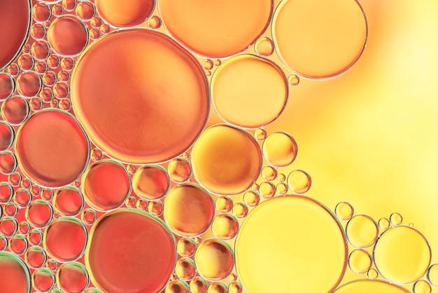 Várias bolhas amarelas abstratas textura Foto gratuita