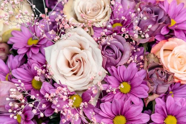 Variedade de close-up de flores coloridas Foto gratuita