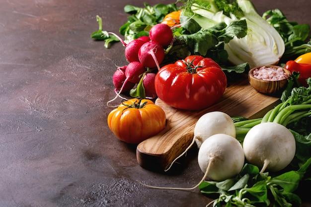 Variedade de vegetais Foto Premium