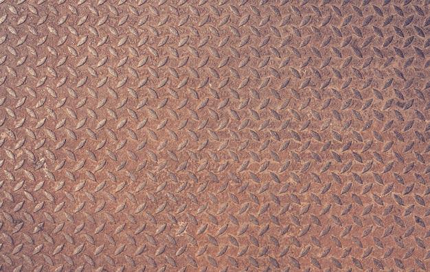 Velho enferrujado ferro diamante placa vintage fundo de metal texturizado Foto Premium