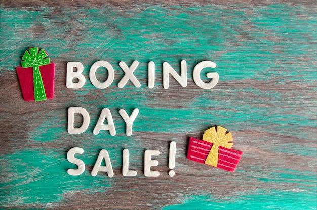 Venda boxing day Foto Premium