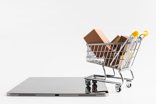 Vendas de compras da cyber monday Foto gratuita