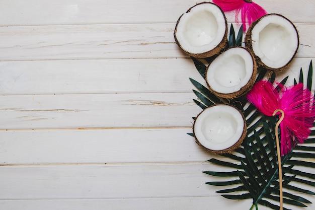 Verão, composição, gostoso, cocos Foto gratuita