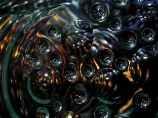 Verde fundo preto abstrato da bolha Foto gratuita