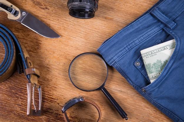 Vestuário e acessórios para homem Foto Premium