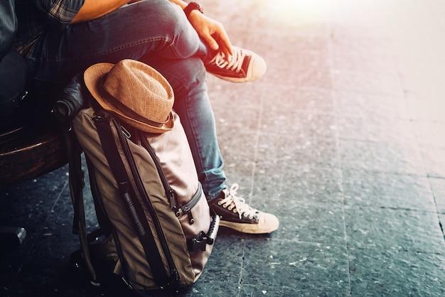 Viagem de férias jovem viajante Foto Premium
