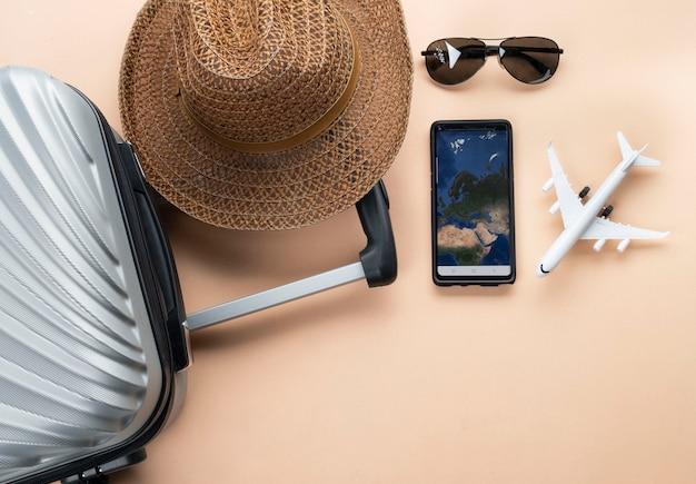 Viagem plana leigos Foto Premium