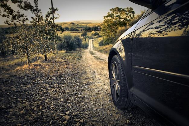 Viajando de carro Foto Premium