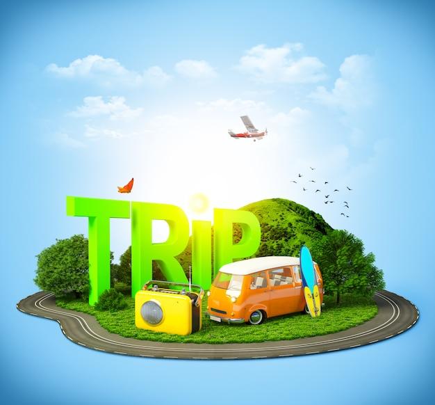 Viajar pelo mundo Foto Premium