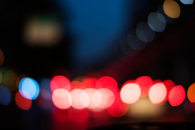 Vida noturna abstrata luz turva Foto gratuita