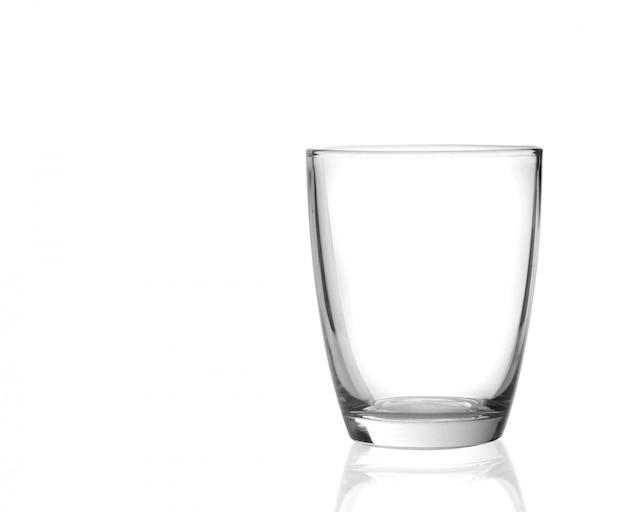 Vidro em um fundo branco de superfície Foto Premium