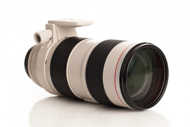 Vidro profissional para câmera Foto gratuita