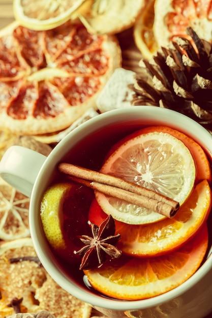 Vinho quente de natal Foto Premium