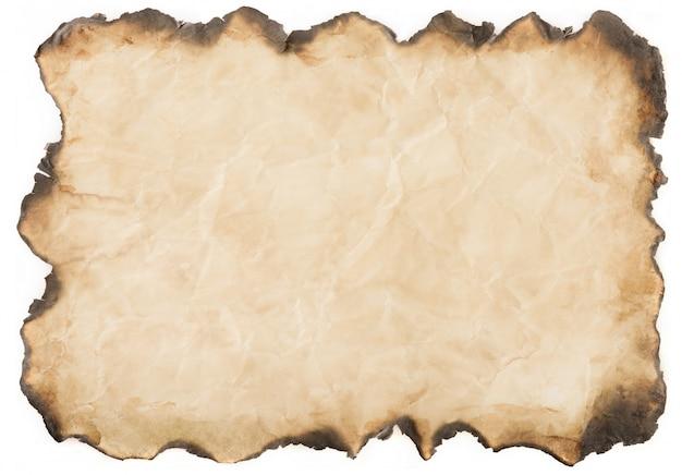 Vintage de papel velho envelhecido ou textura no fundo branco Foto Premium