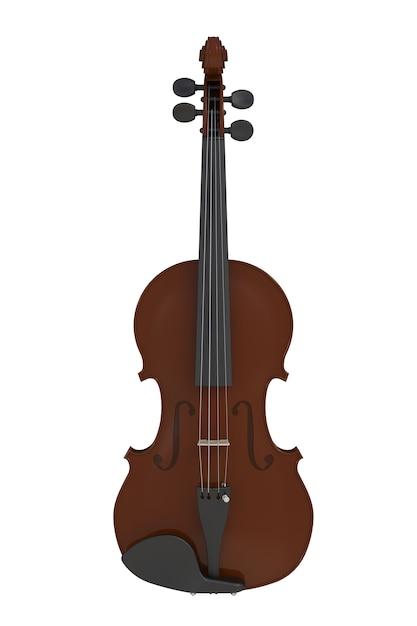 Violino clássico isolado no fundo branco Foto Premium