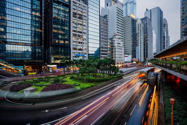 Visão do tráfego de hong kong Foto gratuita